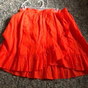 JCREW flirty faux wrap skirt